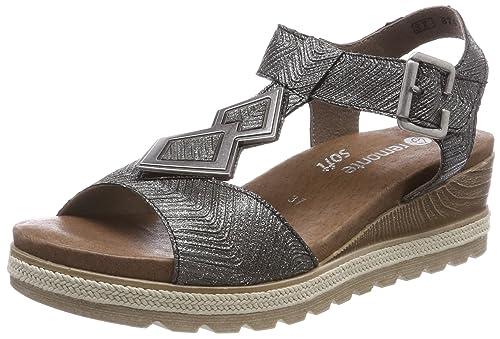 Remonte D6350 Sandali con Cinturino alla Caviglia Donna Nero