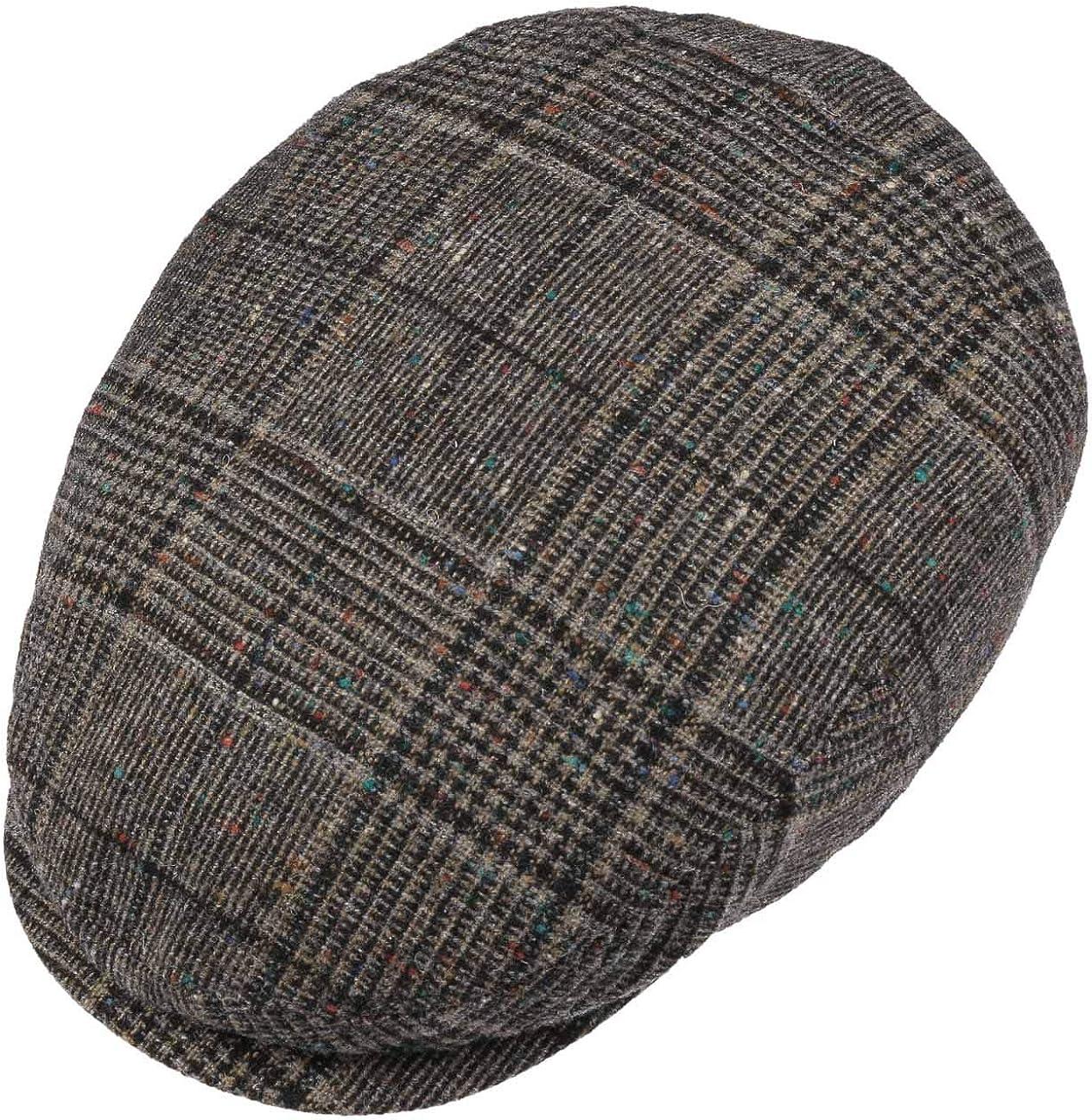 Futter Fr/ühling-Sommer Herbst-Winter Made in The EU mit Schirm Stetson Kent Wool Flatcap Schirmm/ütze Schieberm/ütze Wollcap Herren