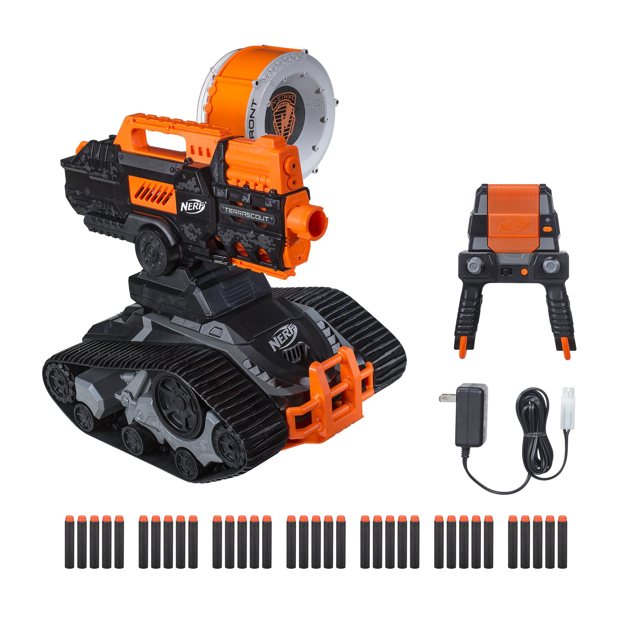 TerraScout Recon Nerf Toy RC Drone N-Strike Elite Blaster with Live Video Feed 18 Official Nerf Elite Darts and Rechargeable Battery For Kids, Teens, and Adults by NERF (Image #1)