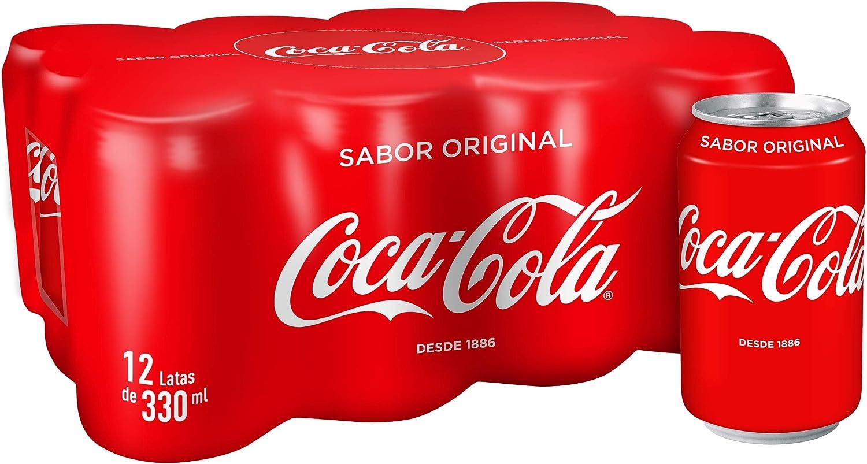 Coca-Cola - Regular, Refresco con gas de cola, 330 ml (Pack de 12), Lata: Amazon.es: Alimentación y bebidas