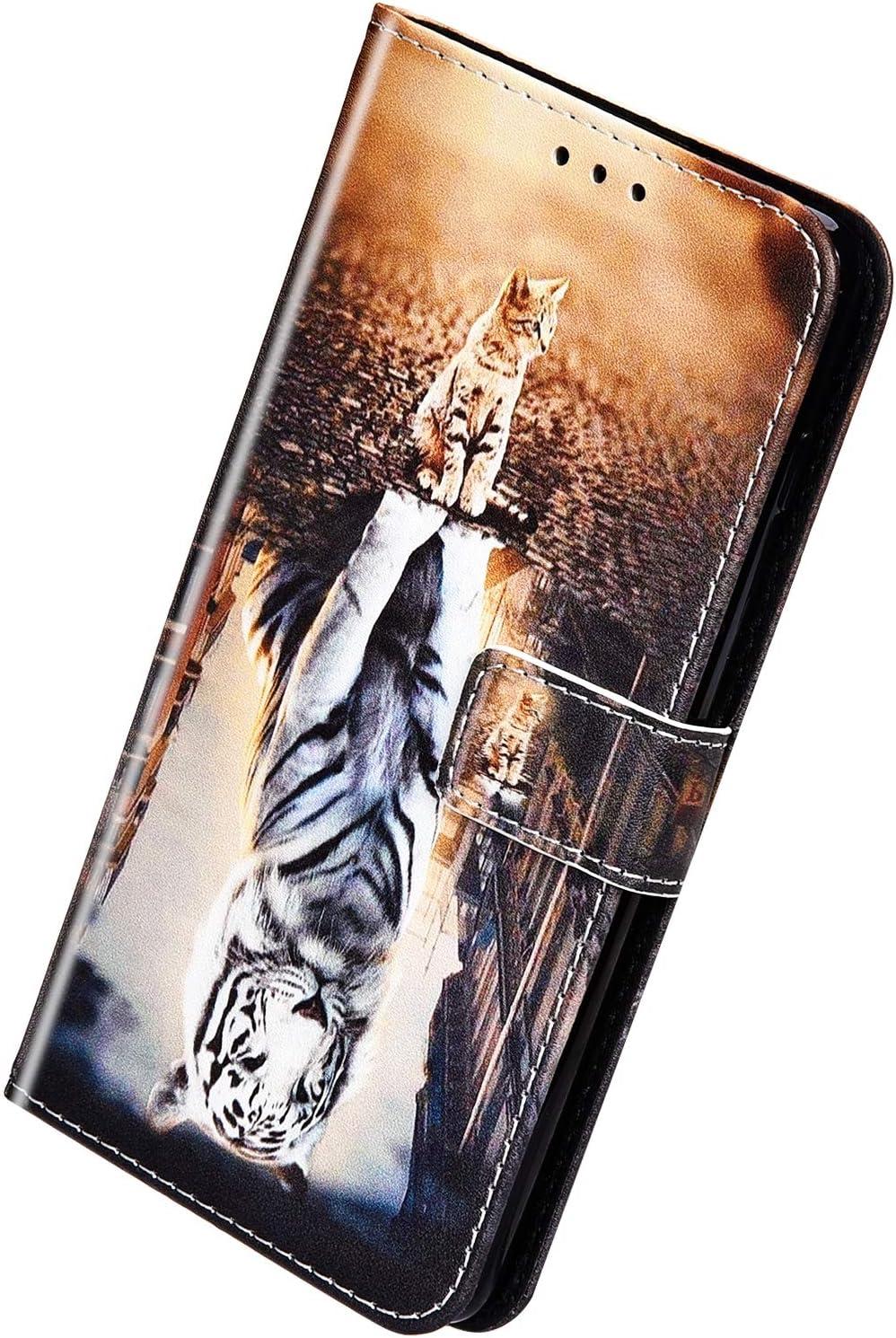 Herbests Compatible avec Samsung Galaxy J6 2018 Coque Silicone /Étui Ultra Mince Ultra-Light Etui Soft TPU Flexible Gel Bumper Vintage Retro Design /él/égant Housse /à Rabat Magn/étique Cover,Rose