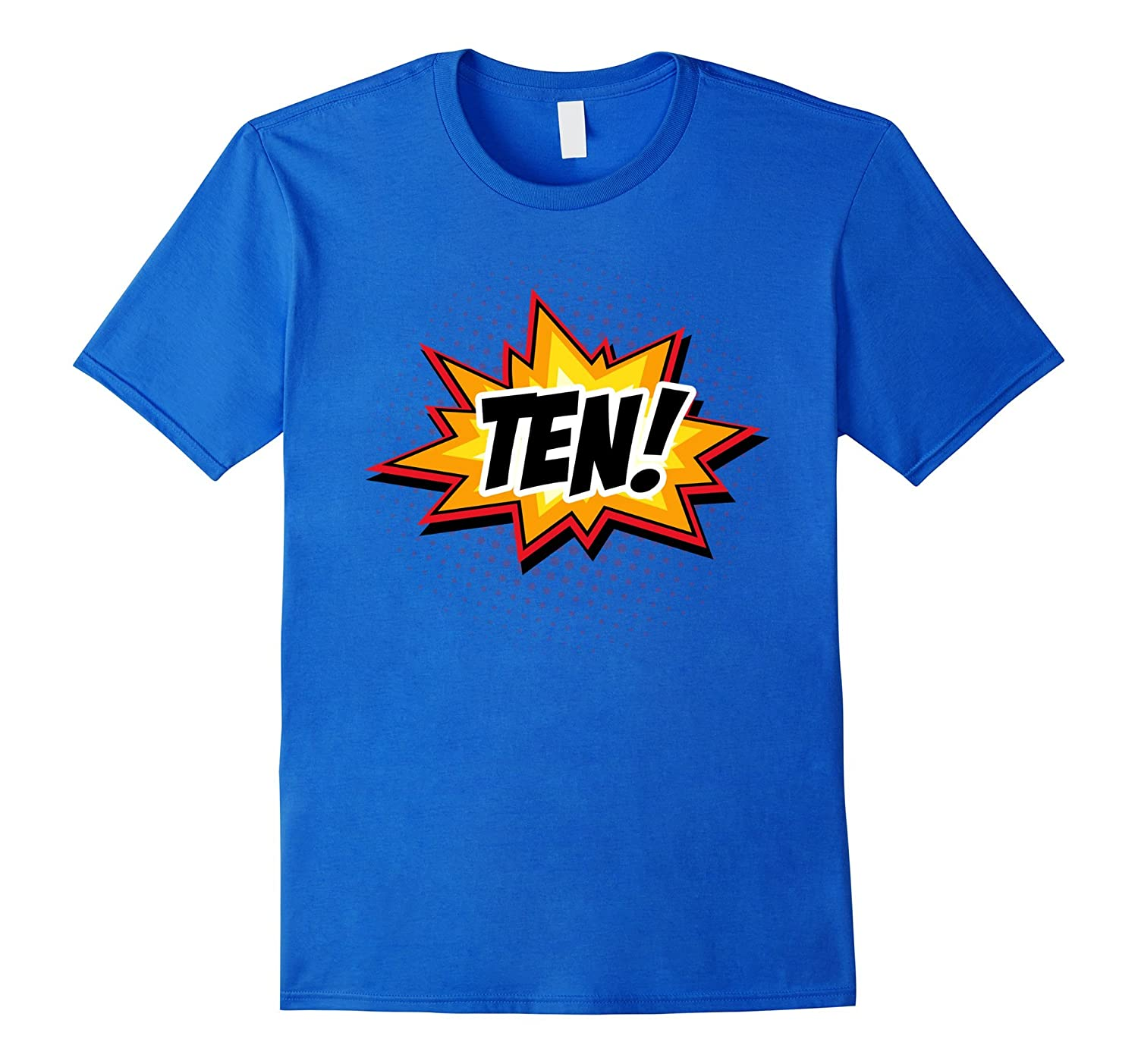 SuperHero Birthday Shirt 10 Year Old Boys And Girls ALL AGES TH