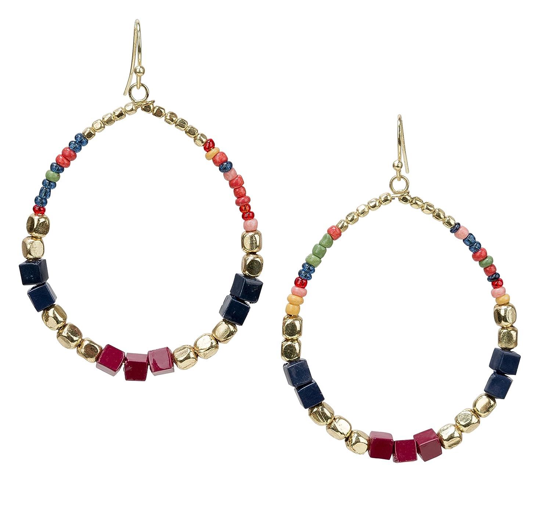 Boho Dangle Earrings Tear Drop Multi Color | SPUNKYsoul Collection