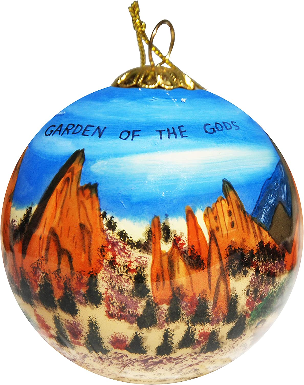 Art Studio Company Hand Painted Glass Christmas Ornament - Garden of The Gods