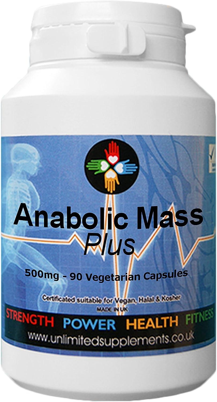 Anabolic Mass PLUS 500mg - 90 Cápsulas para ayudar al crecimiento extremo muscular y su desarrollo. El más vendido, compra obligatoria