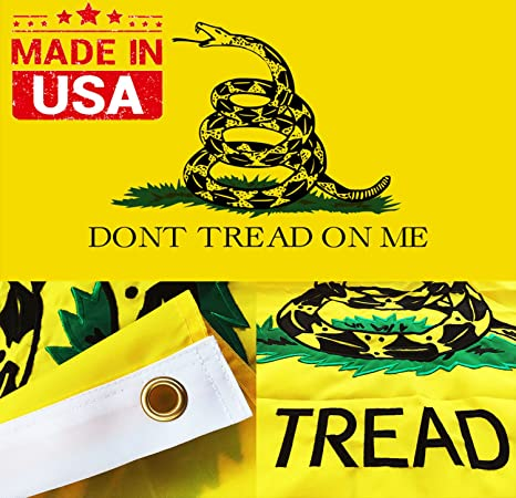 Amazon Winbee Embroidered Gadsden Dont Tread On Me Flag 3x5
