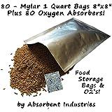Amazon Com 60 1 Gallon 10 Quot X14 Quot Mylar Bags Amp 60