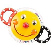 Sassy Smiley Face Mirror Rattle, Multicolour