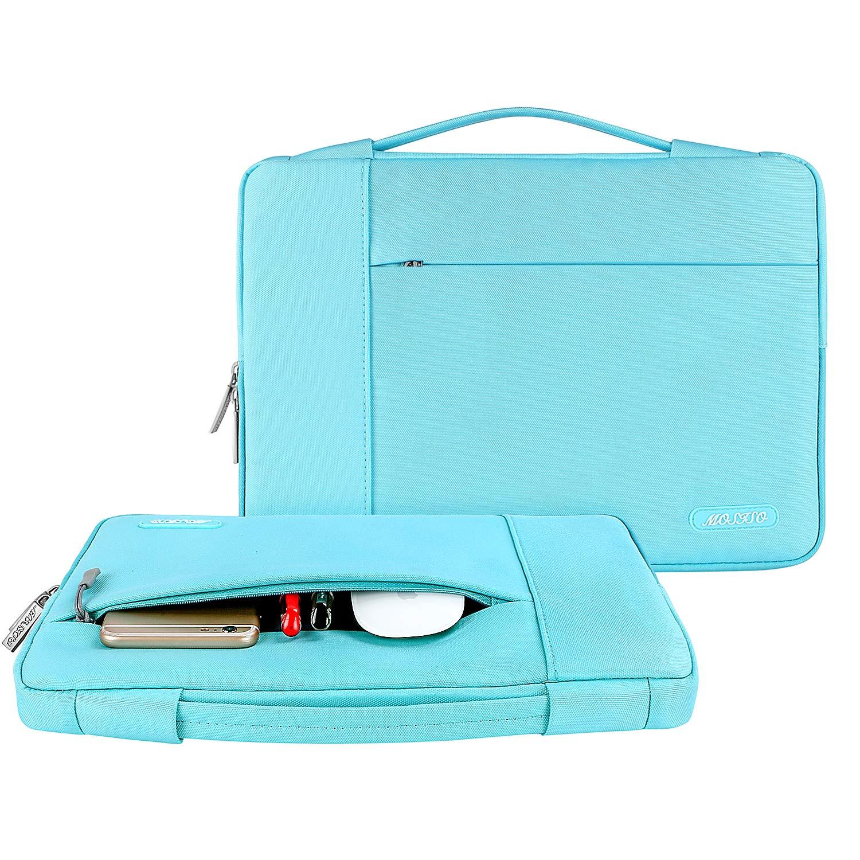 Laptop Sleeve Multifonctionnel Sac Main Polyester MOSISO Housse Compatible MacBook 12 Pouces A1534 Retina 2017 2016 2015//HUAWEI MateBook E 12 Pouces Noir