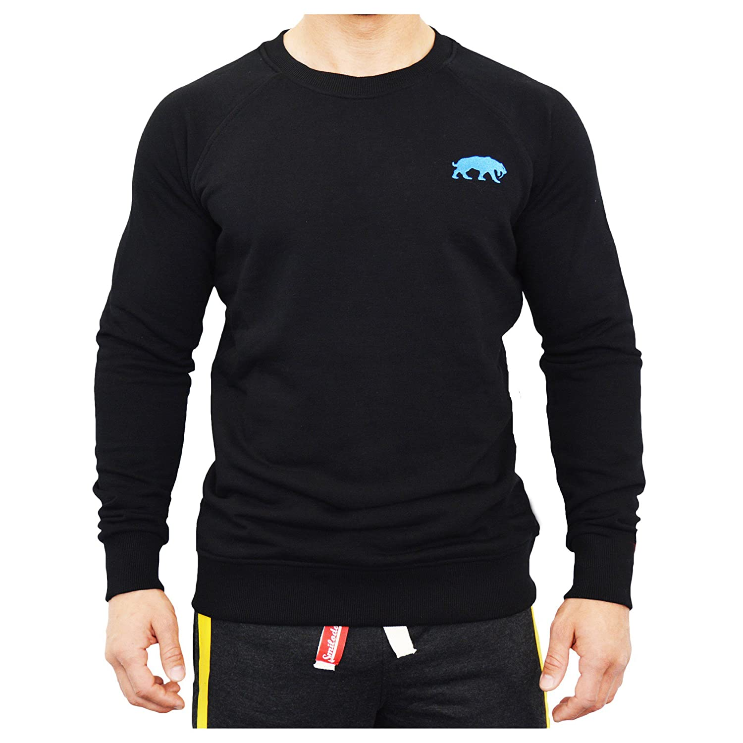 SMILODOX Slim Fit Sweatshirt, Manica Lunga Uomo