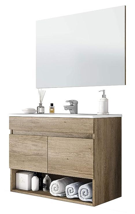 Miroytengo Mueble De Aseo Con Espejo Mueble De Bano Colgante Moderno