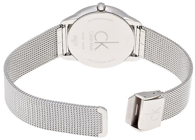 Amazon.com: Calvin Klein K3M21124 Mens Minimal Grey Silver Watch: Watches
