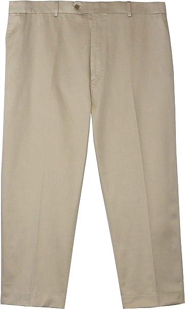 BLACK Jonathan Quale Big /& Tall Flex Waist Wrinkle Resistant PLAIN FRONT Pant