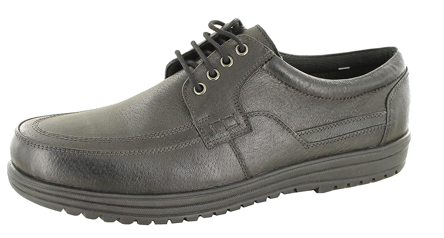 0af15f483bd5 DR Keller Jeffery Men s Black Real Soft Leather Lace Up Wide Fit Shoes   Amazon.co.uk  Shoes   Bags
