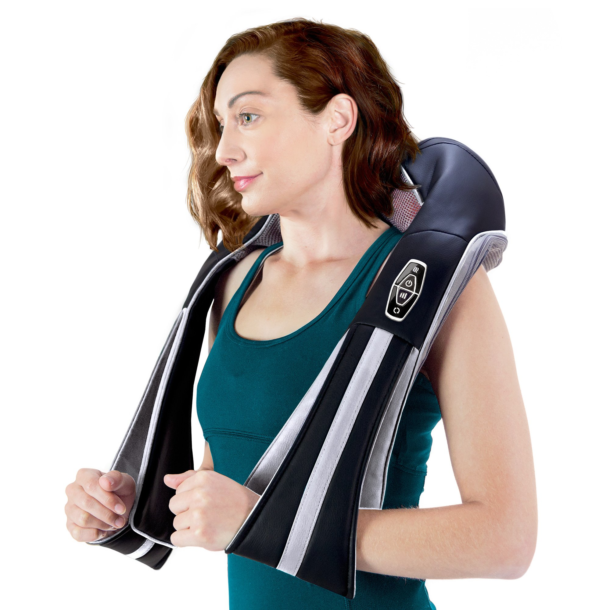 InstaShiatsu+ Neck, Shoulder & Full Body Massager with Heat, Model # IS-3000PRO, 3 Massage Speeds, Cordless & Rechargeable, Use at Home & Office, by TruMedic by truMedic (Image #3)