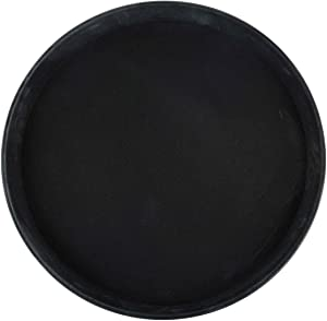 Winco Round Fiberglass Tray with Non-Slip Surface, 14-Inch, Black