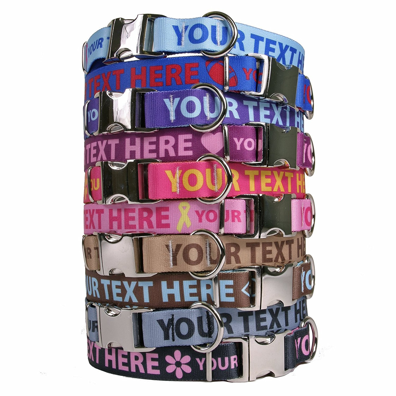 Personalised Premium Dog Collar with Metal Clasp Available 20 Colours + 4 Sizes