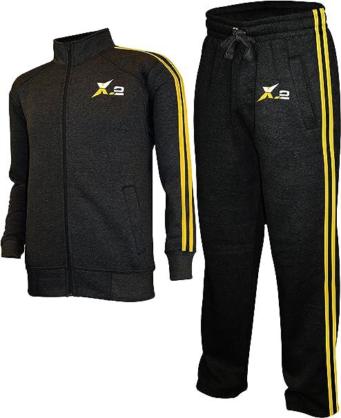 X-2 Hombre Chándal Atlético Cremallera Completa Fleece Prendas de ...