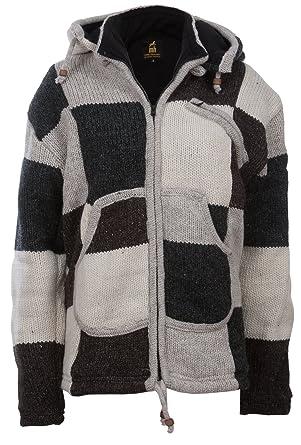 a7f6f7c5bed0 Michael Heinen - Bunte Patchwork Jacke   Damen   Traditionelle Nepal Jacke  mit Patches   Wolljacke