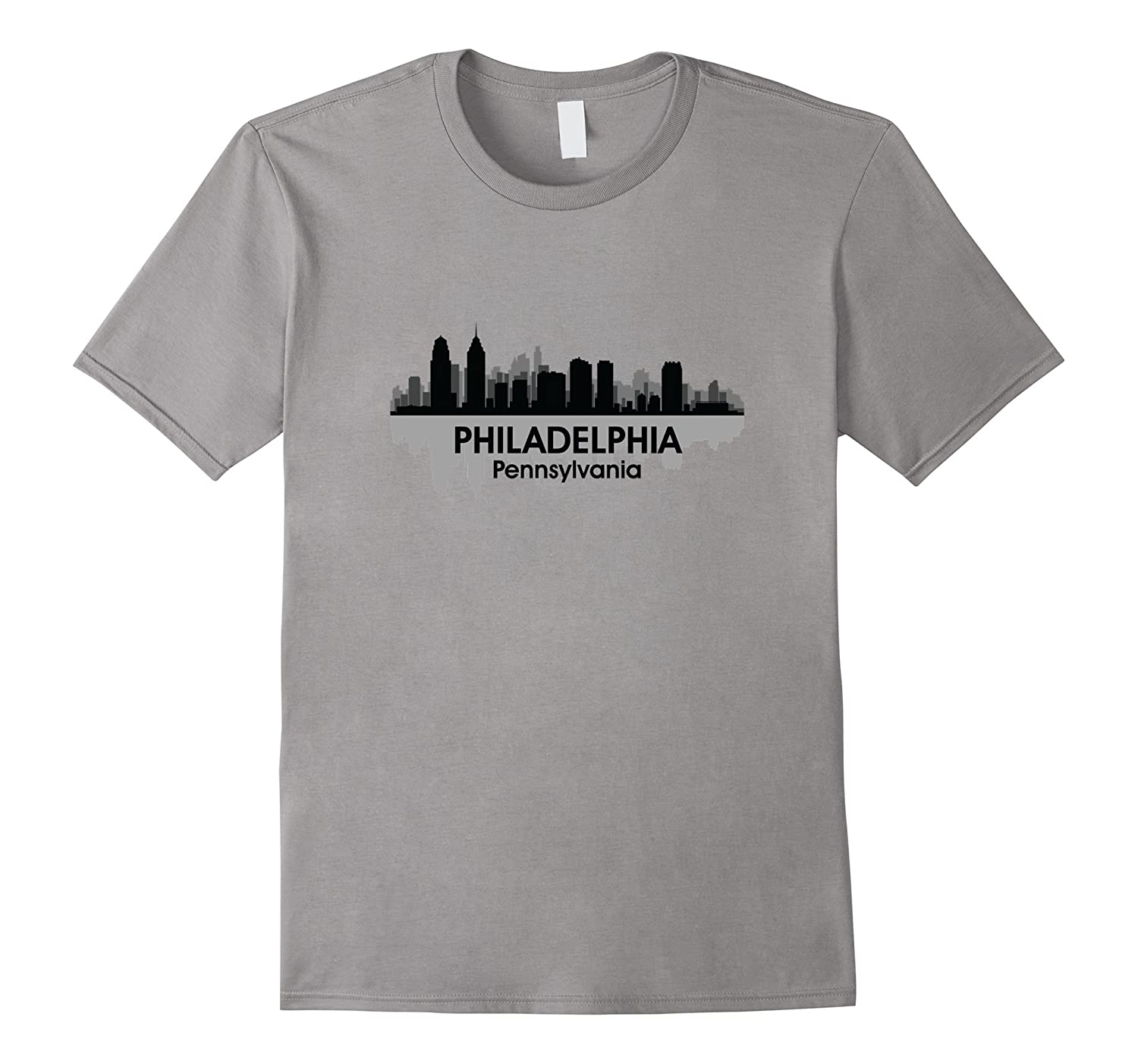 PHILADELPHIA PA  City Pride Skyline Philly Love T-shirt-TH