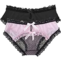 Women's Sexy Lace Panties Bowknot Briefs Hipster Mesh Knickers Midnight Lingerie Underwear