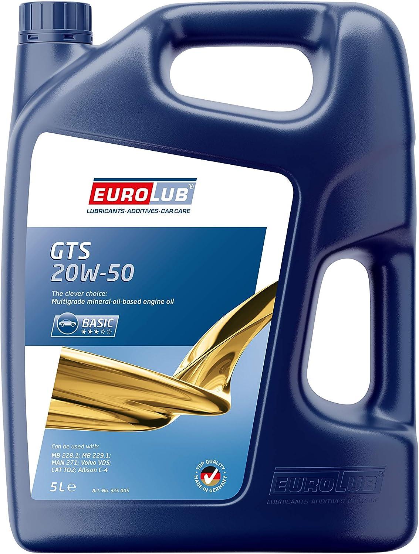 Eurolub Gts Sae 20w 50 Motoröl 5 Liter Auto