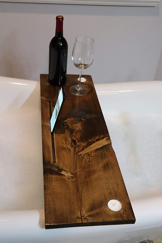 Rustic Bathtub Wine Caddy