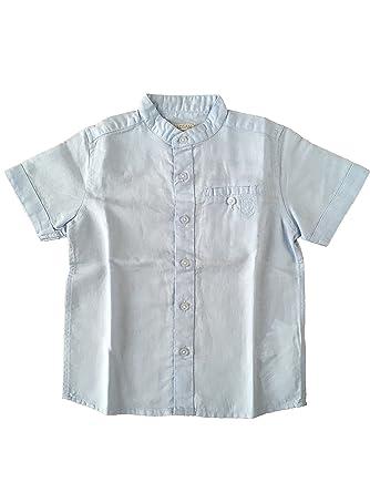 Losan Jungen Hemd Festlich Kurzarm Weiß o Blau Taufanzug  Amazon.de   Bekleidung 7eafcc7b36