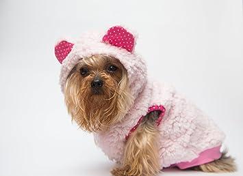 Chaqueta con capucha de color rosa de alta calidad, todos los tamaños, para perros