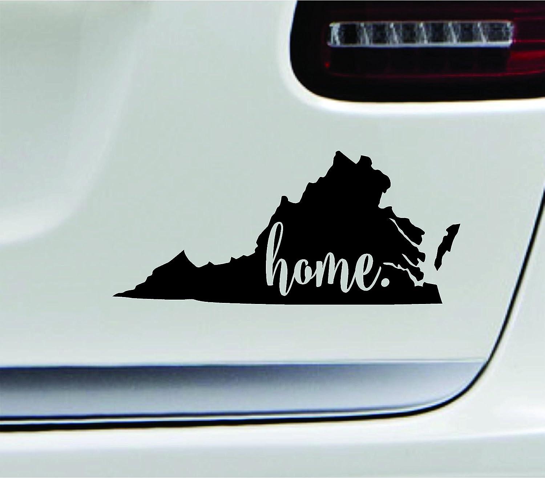 Amazon com 3 home virginia state richmond symbol sticker decal car truck window computer laptop black automotive