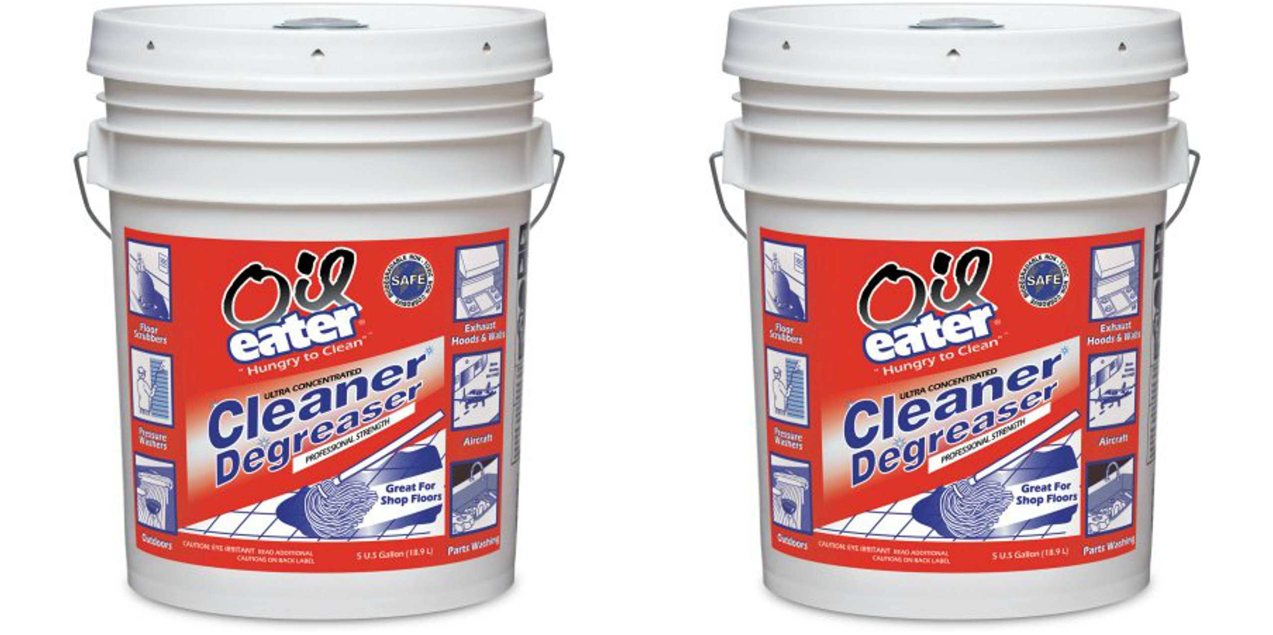 Oil Eater Ultra Concentrated Cleaner and Degreaser Professional Strength Original Formula, 5 Gallon Bucket, Pack of 2