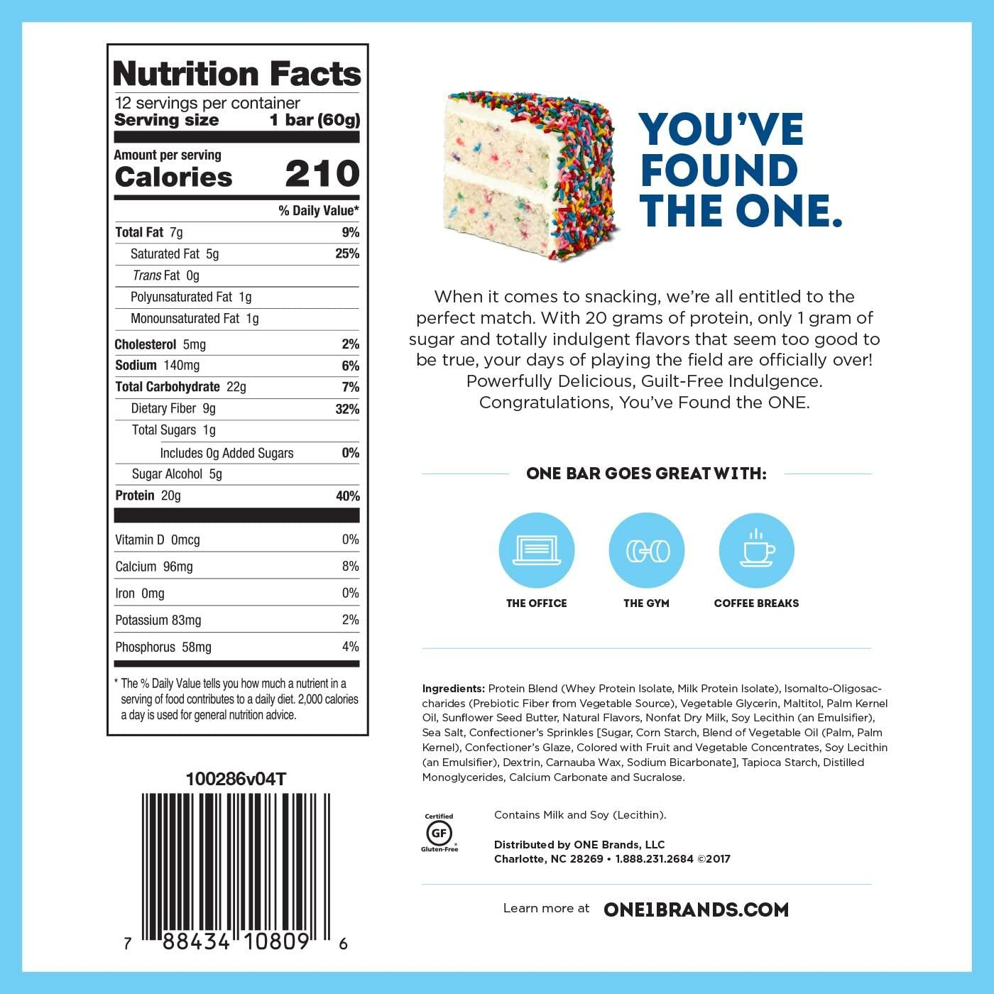 Wondrous One Brand One Bar Birthday Cake 12 Count Amazon Co Uk Health Funny Birthday Cards Online Alyptdamsfinfo