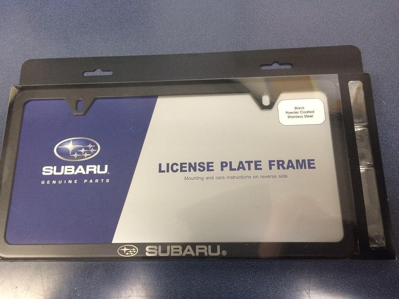 Amazon.com: Genuine Subaru logotipo Slim Line Negro Licencia ...