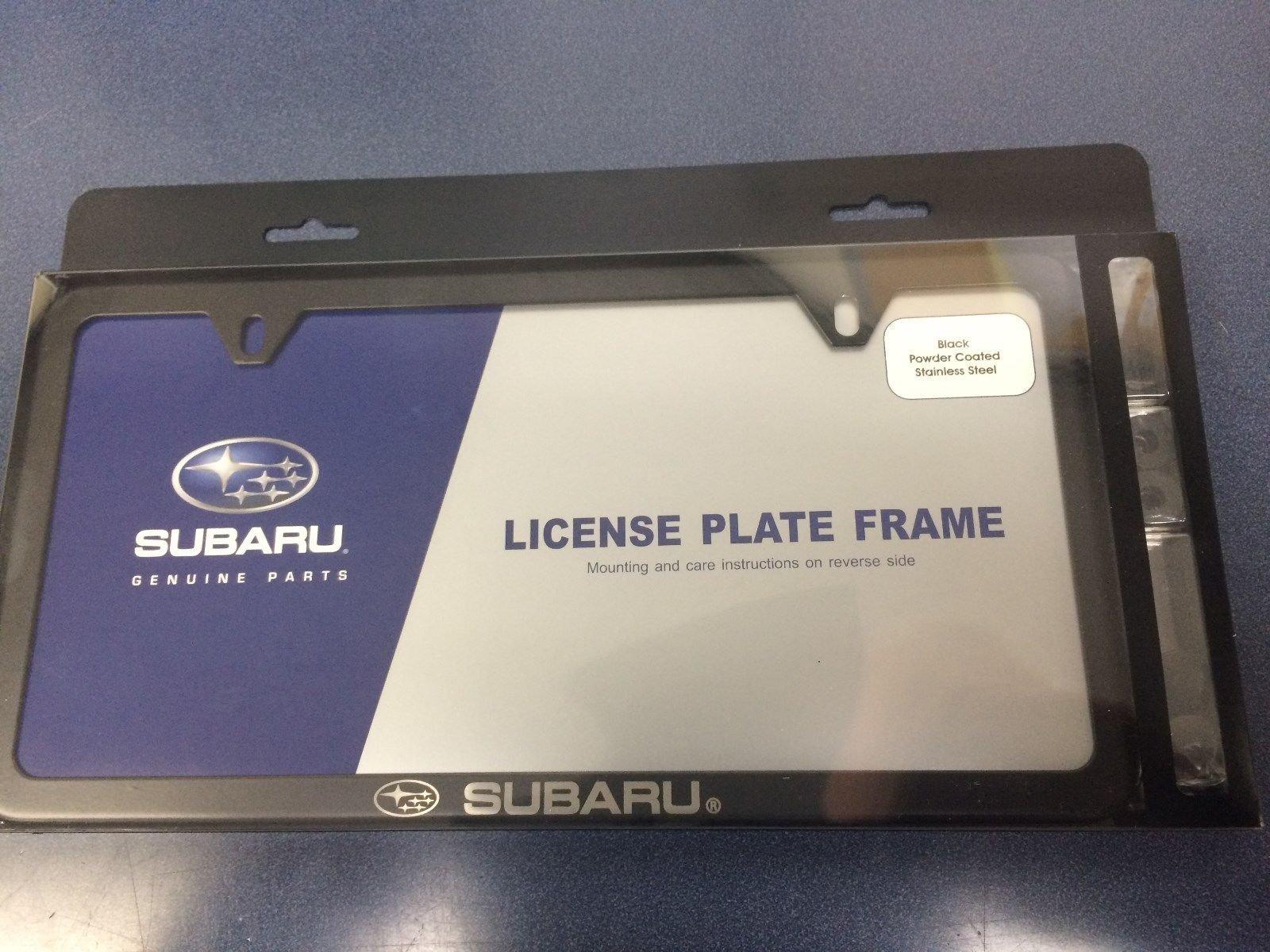 Subaru Genuine Logo Slim LINE Black License Plate Frame WRX STI All ...