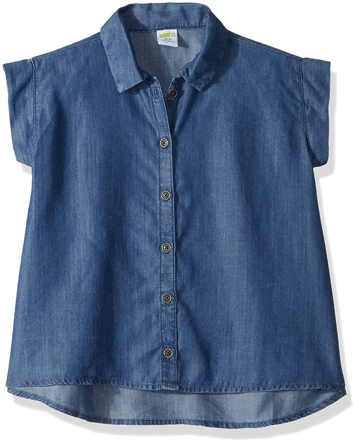Crazy 8 Girls Big Woven Button Up Top