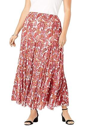 Jessica London - Falda Maxi de algodón Arrugado para Mujer, Talla ...