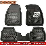 Autofact Black 3D/4D Car foot Mats For Maruti Swift All Models (Complete Set)