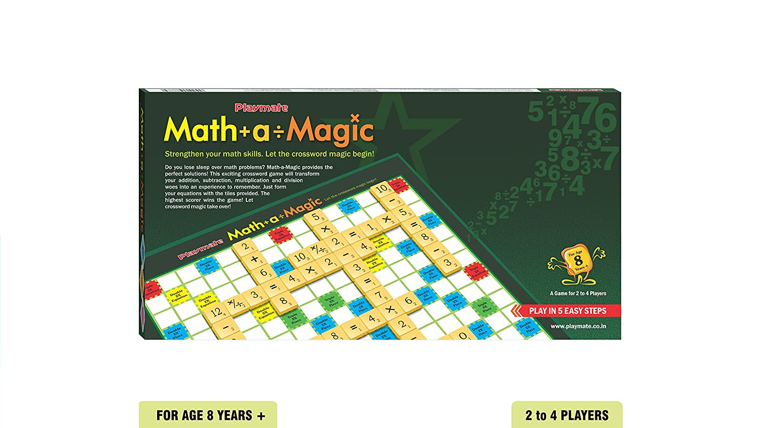 Buy Playmate Math-A-Magic - Mathematics Game. Age 8 Years + / 2-4 ...