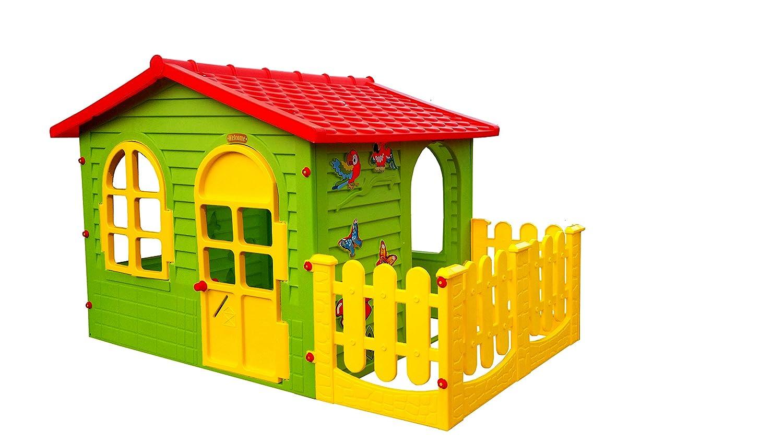 Buntes Kinderspielhaus Aus Kunststoff Für Den Innen Und Außenbereich. Durch  Die Größe Ist Es Für