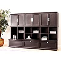 Abbyson Living 9-Piece Modular Wall Storage Unit