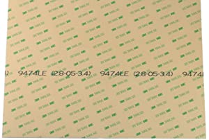 """Sheet of 3M 9474LE 300LSE Super-Strong Double-Sided Adhesive/Adhesive Transfer Tape of Size 8"""" x 12"""". Economy Packaging Without Stiffener [3M9474-08x12]"""