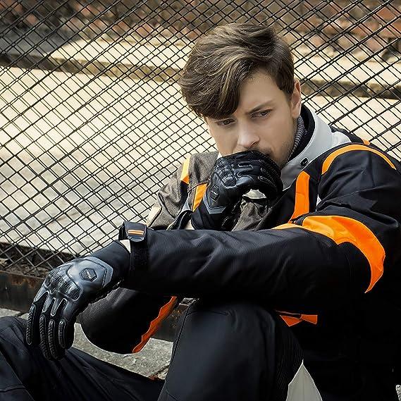 Moto Gants /écran tactile Full Finger l/ég/ère avec rigide Knuckle Id/éal Gear Accessoires pour Dirt bike ATV Moto Cyclisme ext/érieur Powersports Homme Femme