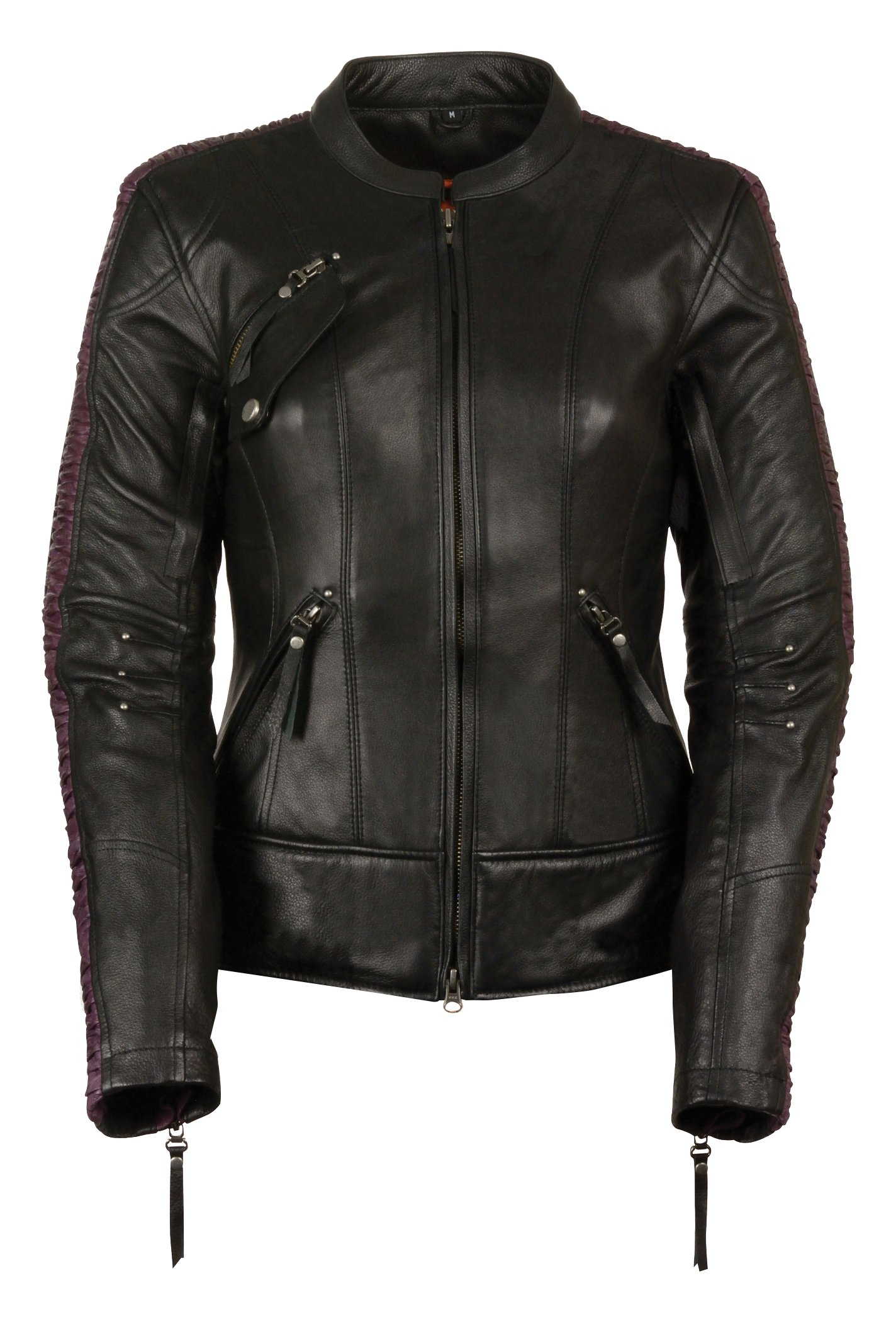 Milwaukee Leather Women's Embossed Phoenix Jacket (Black/Purple, XX-Large)