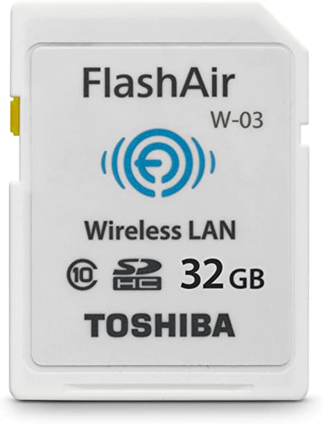 Toshiba 32GB FlashAir III Wireless SD Memory Card, White,(PFW032U-1CCW)