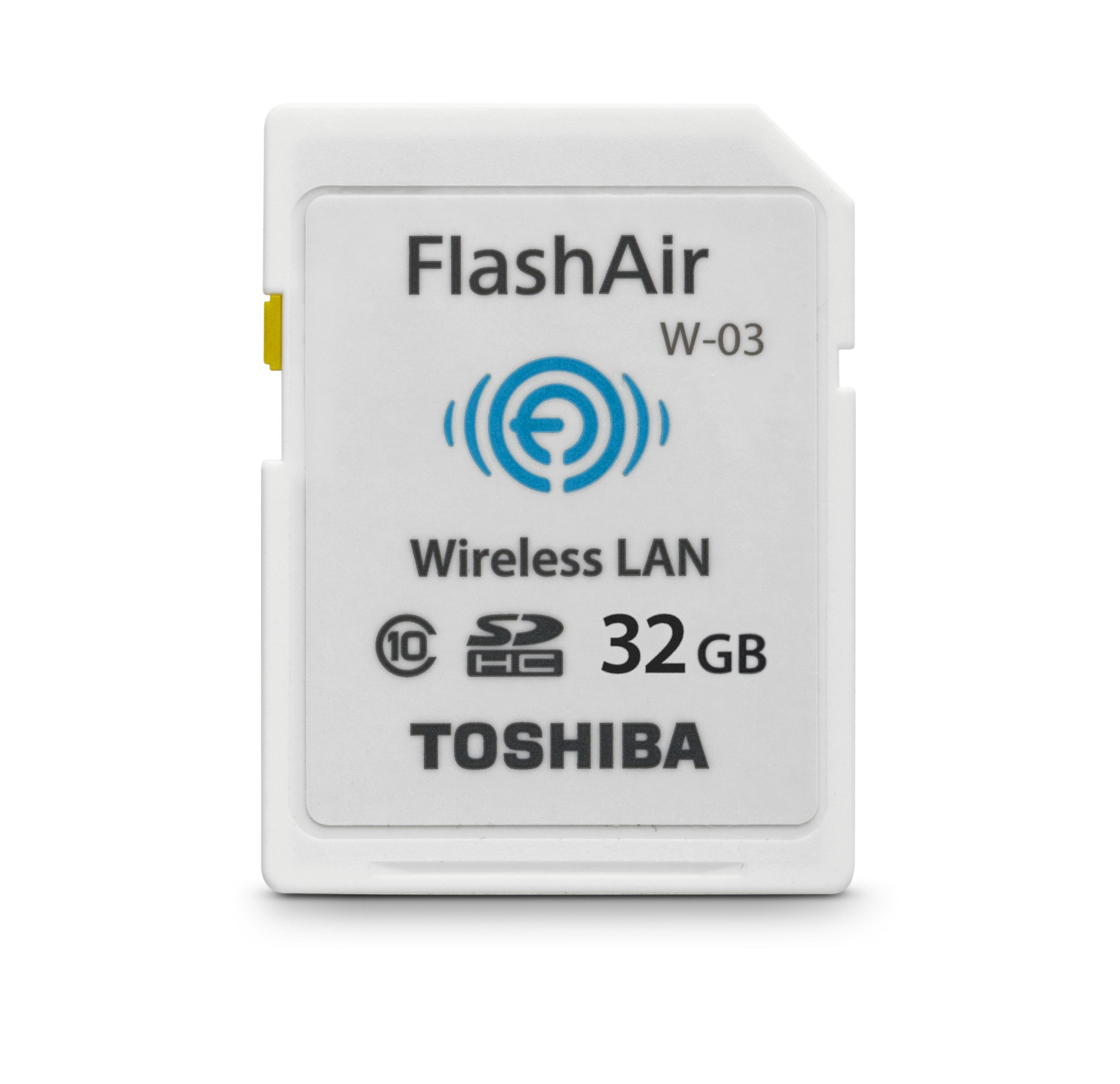 Toshiba 32GB FlashAir III Wireless SD Memory Card, White,(PFW032U-1CCW)