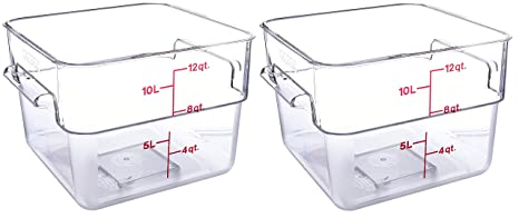 Cambro 12SFSCW135 CamSquare Food Storage Containers Set of 2 (12-Quart Polycarbonate  sc 1 st  Amazon.com & Amazon.com: Cambro 12SFSCW135 CamSquare Food Storage Containers Set ...