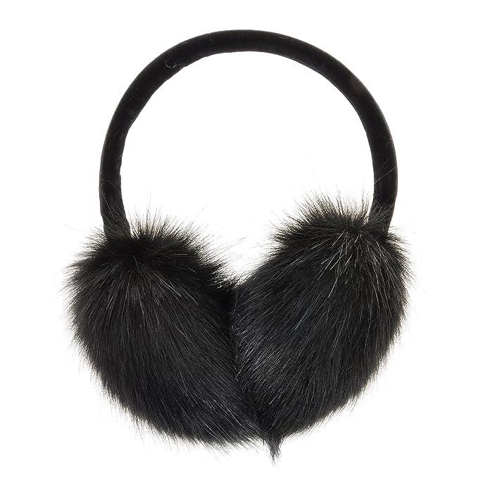 2d904842ae ZLYC Womens Girls Winter Fashion Adjustable Faux Fur EarMuffs Ear Warmers
