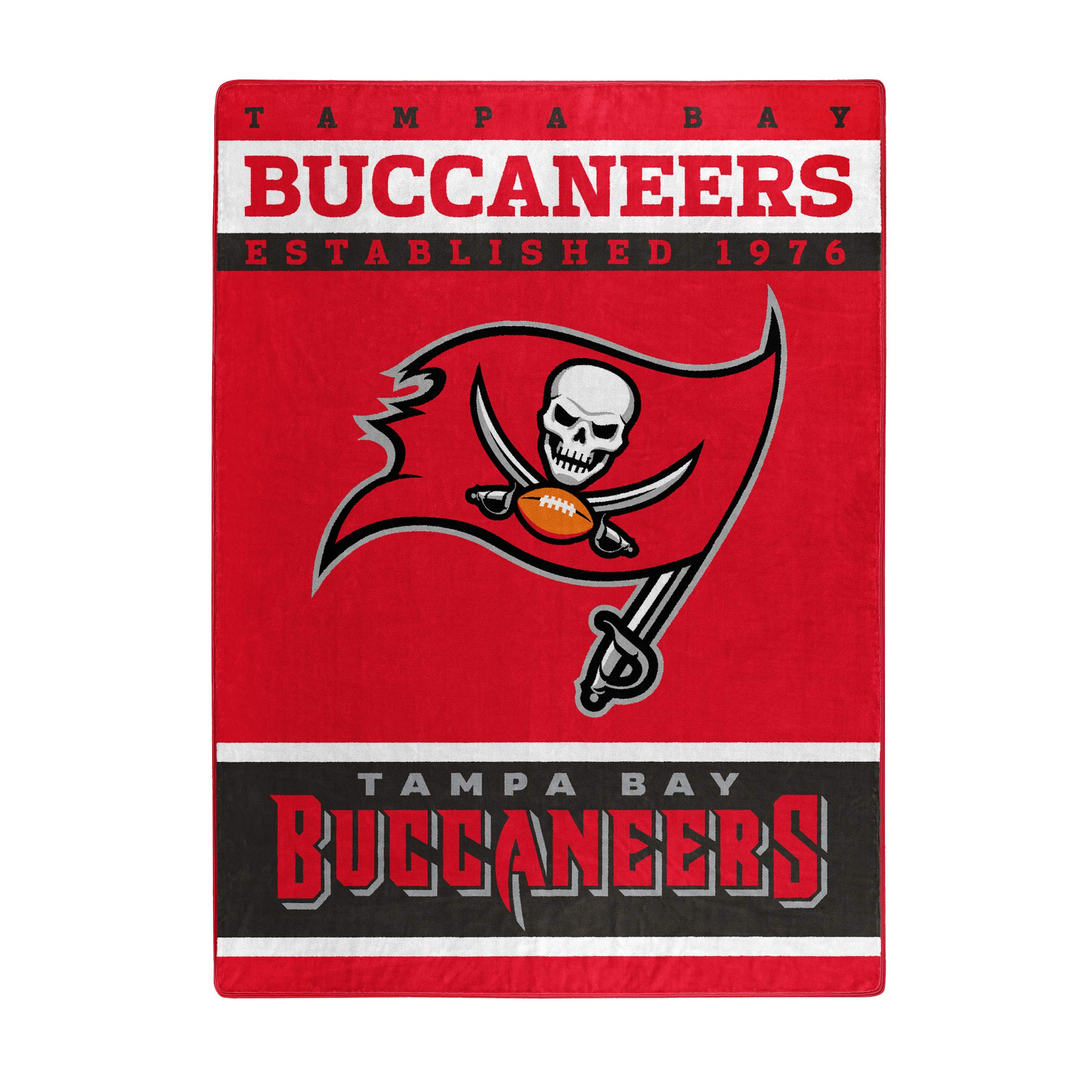 The Northwest Company Officially Licensed NFL Tampa Bay Buccaneers 12th Man Plush Raschel Throw Blanket, 60'' x 80'', Multi Color by The Northwest Company