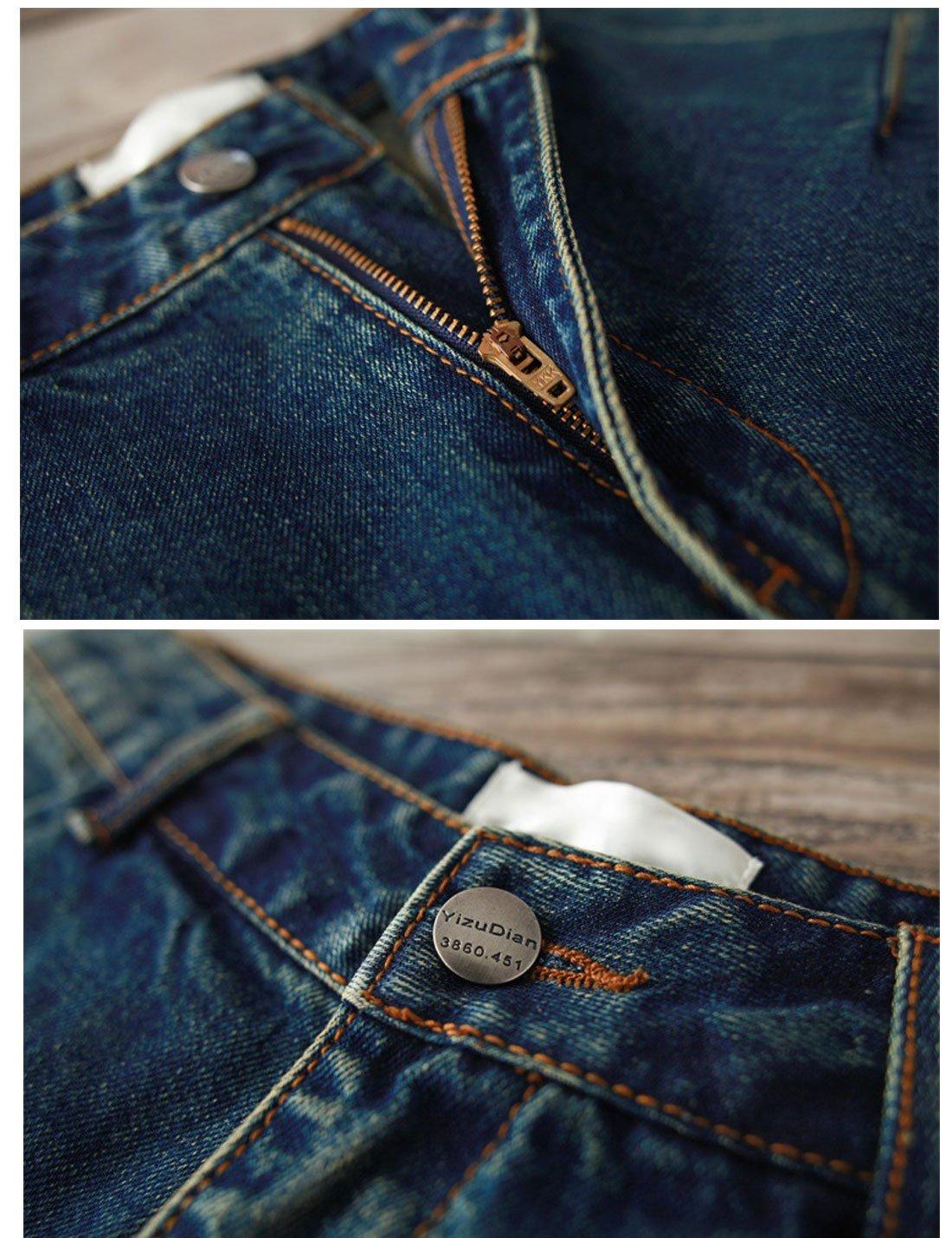 Yeokou Women's Casual Loose Distressed Baggy Harem Denim Jeans Cropped Pants (Large, Dark Blue) by Yeokou (Image #6)