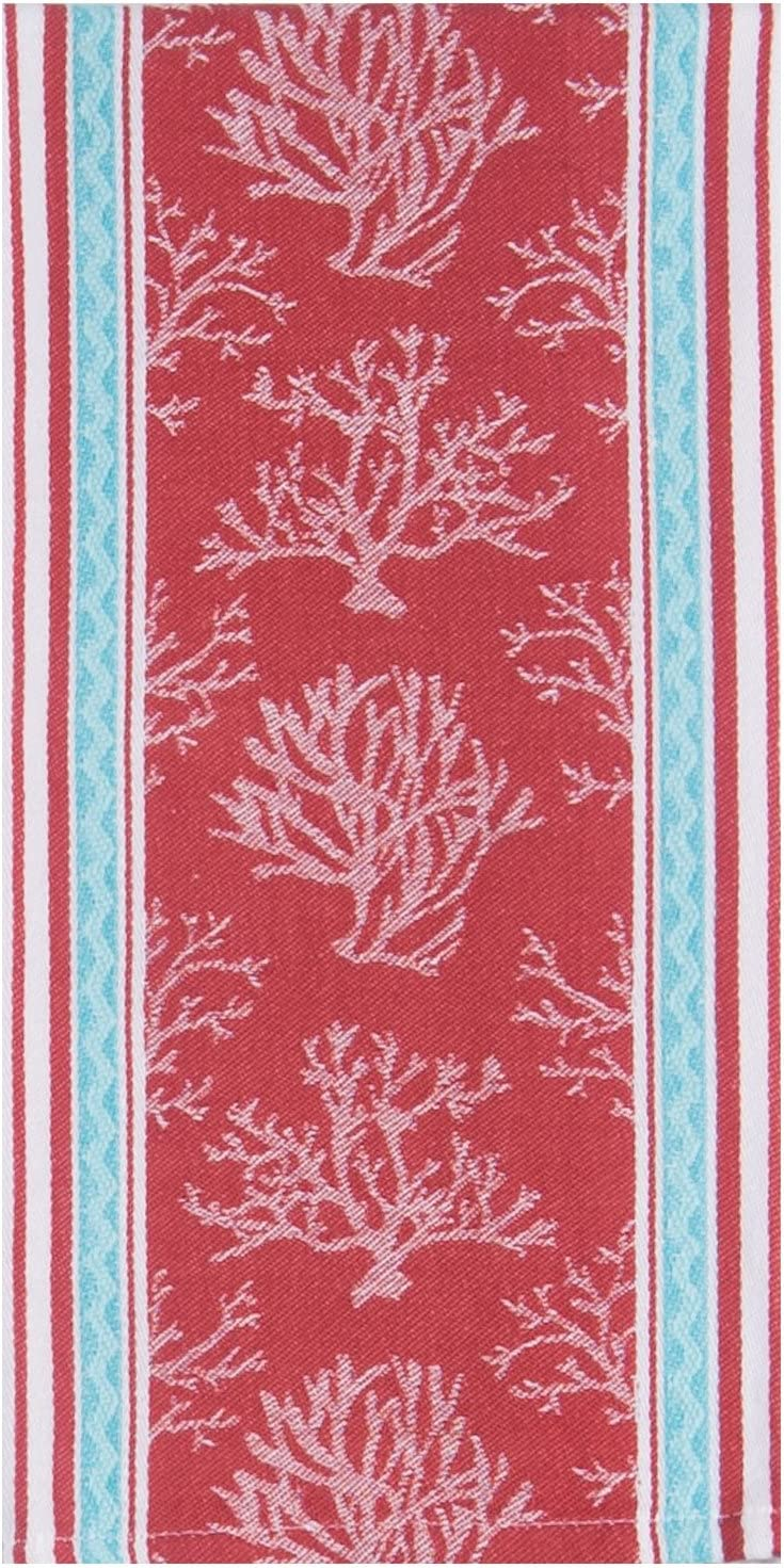Kay Dee Designs Beach House Inspirations Coral Jacquard Tea Towel